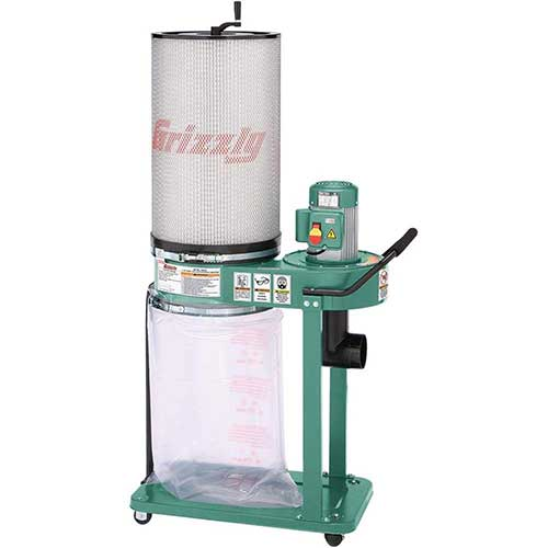 6. Grizzly G0583Z 1 HP Canister Dust Collector