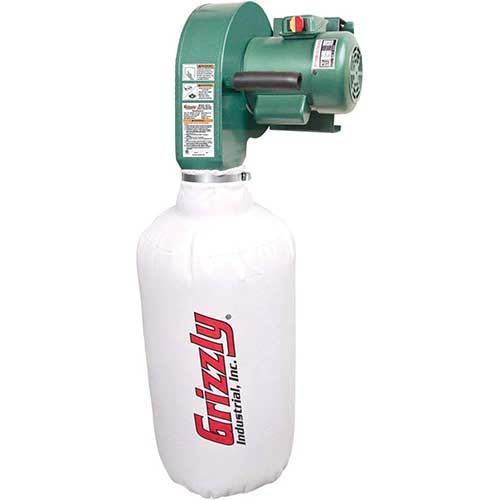9. Grizzly G0710 1 HP Wall Hanging Dust Collector