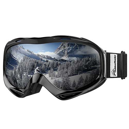BEST BUDGET SKI GOGGLES 1. OutdoorMaster OTG Ski Goggles - Over Glasses Ski/Snowboard Goggles for Men, Women & Youth - 100% UV Protection