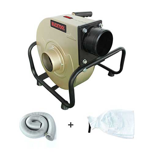 4. BUCKTOOL 1HP Wall-mount Dust Collector Industrial Home Portable 13 Gal with 2 Micron Dust Bag