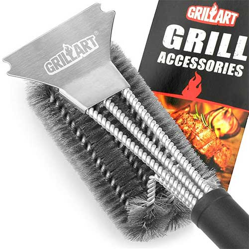 Best Bbq Grill Cleaners 1. GRILLART Grill Brush and Scraper Best BBQ Brush for Grill, Safe 18