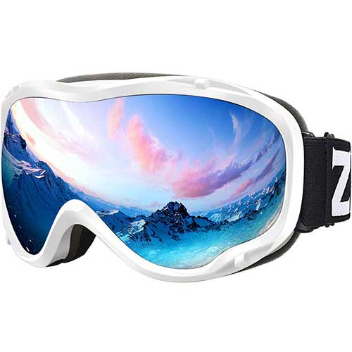 BEST BUDGET SKI GOGGLES 5. Zionor Lagopus Ski Snowboard Goggles UV Protection Anti Fog Snow Goggles for Men Women Youth