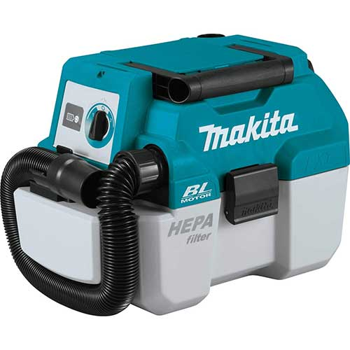 5. Makita XCV11Z 18V LXT Lithium-Ion Brushless Cordless 2 Gallon HEPA Filter Portable Wet/Dry Dust Extractor/Vacuum, Tool Only