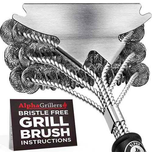 Best Bbq Grill Cleaners 4. Alpha Grillers Grill Brush Bristle Free. Best Safe BBQ Cleaner with Extra Wide Scraper. Perfect 18 Inch Stainless Steel Tools for All Grill Types, Including Weber. Ideal Barbecue Accessories