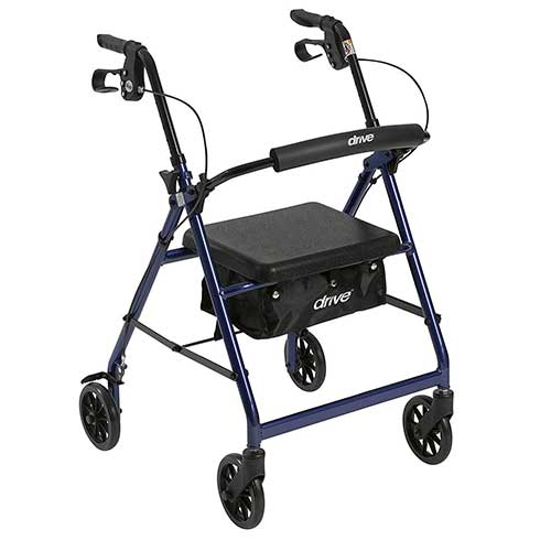 5. DRIVE MEDICAL ALUMINUM ROLLATOR WALKER