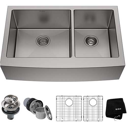 2. Kraus KHF203-33 Standart PRO Kitchen Stainless Steel Sink