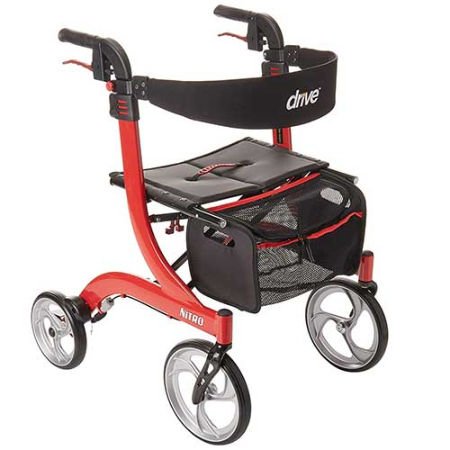 1. DRIVE MEDICAL NITRO EURO STYLE ROLLATOR WALKER