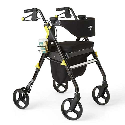 4. MEDLINE PREMIUM EMPOWER ROLLATOR WALKER