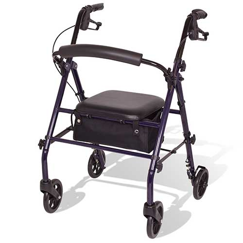 6. CAREX STEEL ROLLATOR WALKER