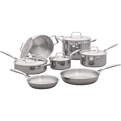 8. Stone & Beam Tri-Ply Stainless Steel Kitchen Cookware Set