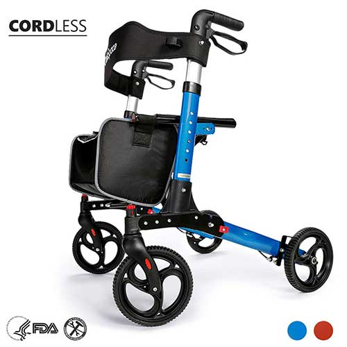 7. OASISSPACE ULTRA FOLDING ROLLATOR WALKER