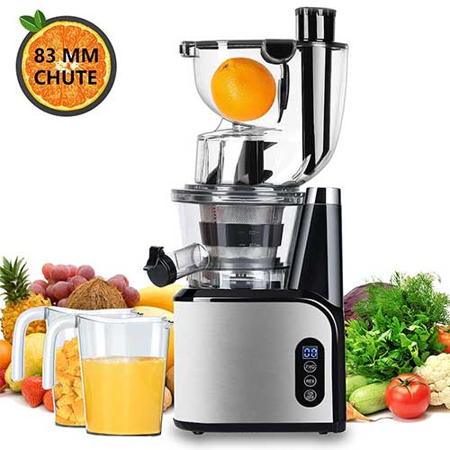 10. Aobosi Slow Masticating Juicer 83mm(3.15inch) Wide Chute Juice Extractor Cold Press Juicer Machine