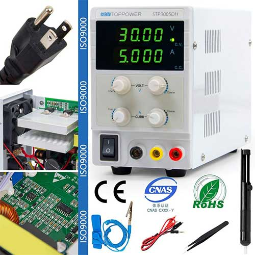 4. DC Power Supply Bench Lab with Adjustable Switching