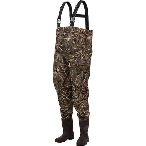 6. Frogg Toggs Rana II PVC Bootfoot Camo Chest Wader, Cleated Outsole