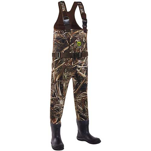 4. TideWe Chest Wader for Toddler & Children, Neoprene Waterproof Insulated Hunting Wader