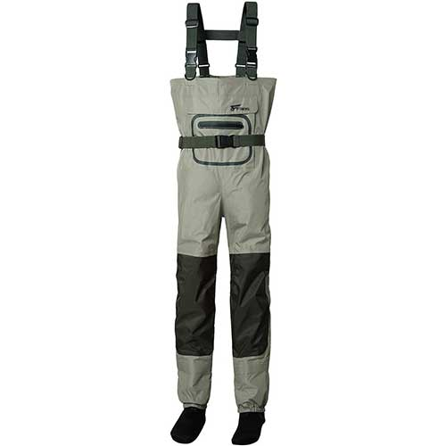 5. 8 Fans Men's Fishing Chest Waders - 3-Ply Durable Breathable and Waterproof with Neoprene Stocking Foot Insulated Chest Waders
