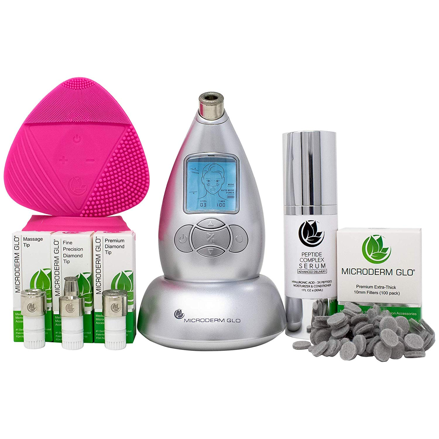 3. Microderm GLO Complete Skincare Package Includes Diamond Microdermabrasion System