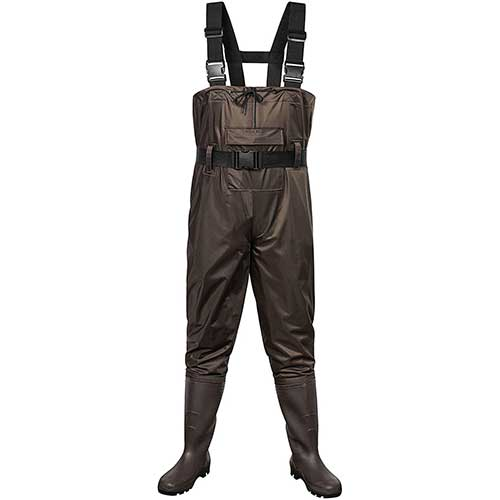 10. Outee Waders Fishing Waders with Boots Waterproof Lightweight Chest Bootfoot Waders Hunting Chest Wader