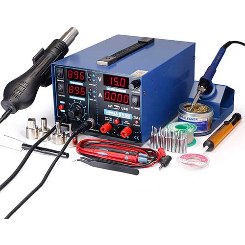 2. YIHUA 853D 2A USB SMD Hot Air Rework Soldering Iron Station