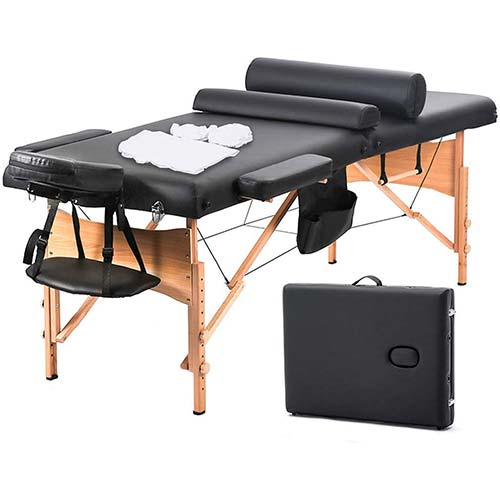 7. Massage Table Massage Bed Spa Bed 73 Inch Heigh Adjustable 2 Fold Portable Massage Table