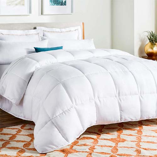 1. LINENSPA All-Season White down Alternative Quilted Comforter