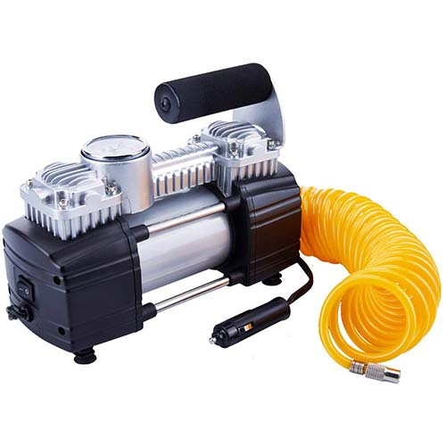 7. TIREWELL 12V Tire Inflator-Heavy Duty Double Cylinders Direct Drive Metal Pump