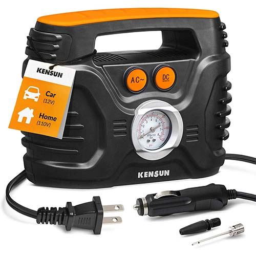 10. Kensun AC/DC Power Supply Portable Air Compressor Pump