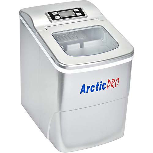 2. PORTABLE DIGITAL ICE MAKER MACHINE by Arctic-Pro with Ice Scoop