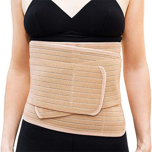 9. Emma + Ollie Postpartum Belly Wrap Belly Band Maternity Recovery Adjustable Abdominal Belt