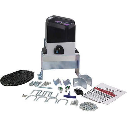2. TOPENS CK1200 Automatic Sliding Gate Opener Kit Sliding Gate Motor