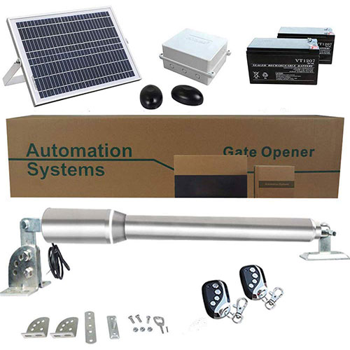 7. ECO LLC Solar Powered Heavy-Duty (300KG) Single Swing Automatic Gate Opener Kit