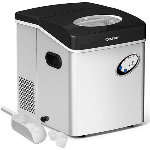 8. COSTWAY Ice Maker Machine, 48LBS/24H Portable Ice