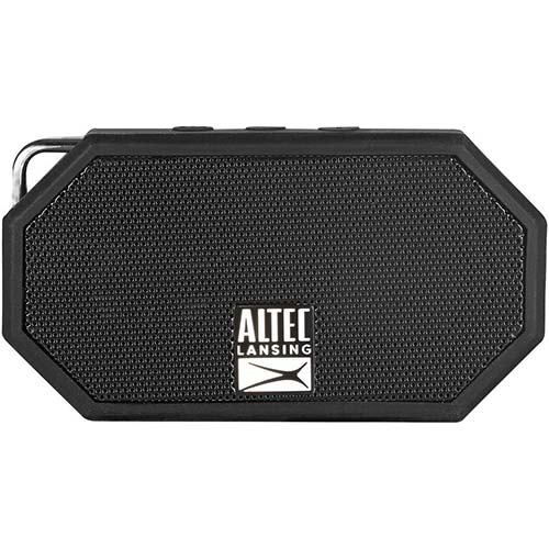 6. Altec Lansing IMW257-BLK Mini H2O Wireless Bluetooth Waterproof Speaker