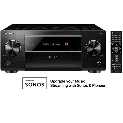 8. Pioneer Elite 11.2 Channel Class D3 Network AV Receiver