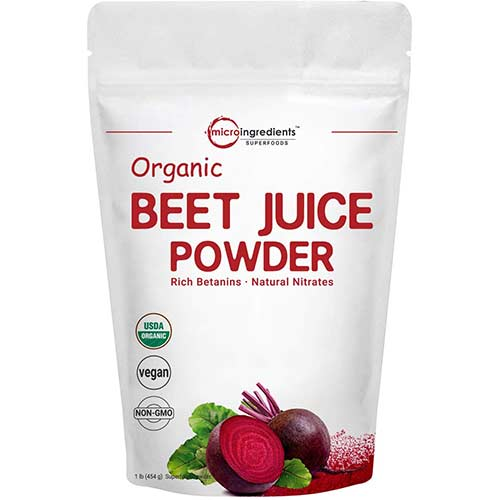 7. Organic Super Beet Juice Powder, 1 Pound (16 Ounce), Natural Nitrates for Energy Booster, Best Superfoods and Flavor