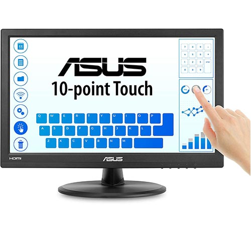"3. Asus VT168H 15.6"" 1366x768 HDMI VGA 10-Point Touch Eye Care Monitor, 15.6-inch"