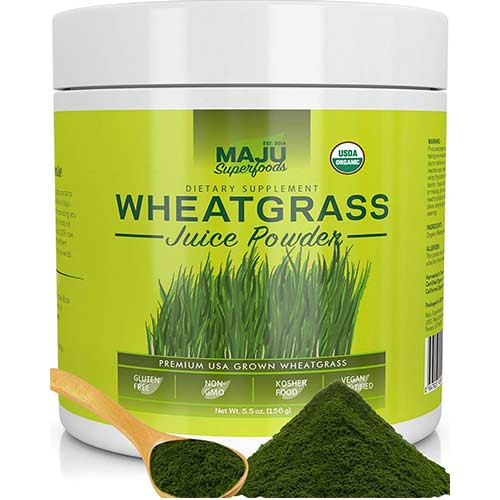 8. Organic Wheatgrass Juice Powder