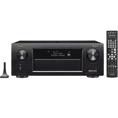 4. Denon AVRX6400H 11.2 Channel Full 4K Ultra HD Network AV Receiver