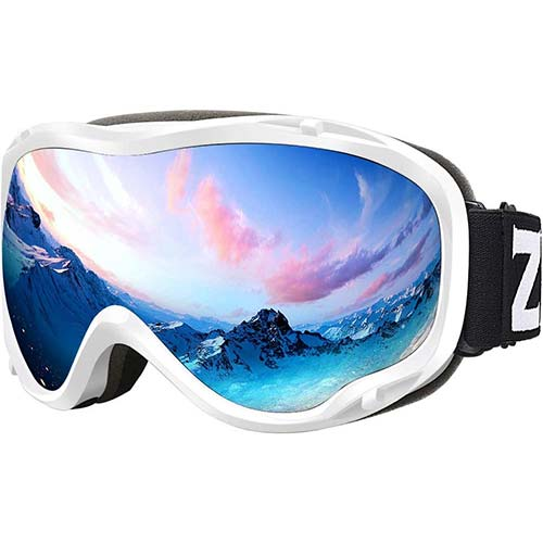 2. ZIONOR Lagopus Ski Snowboard Goggles UV Protection Anti Fog Snow Goggles