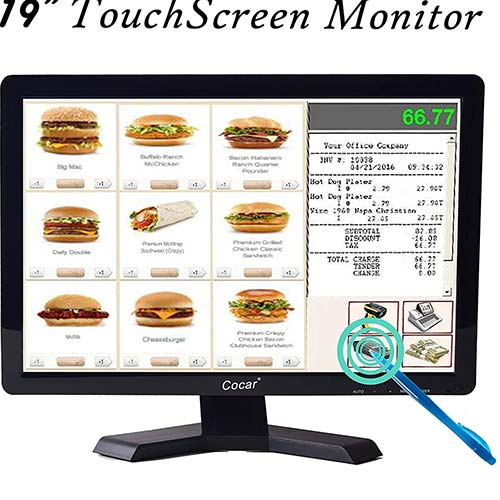2. 19 Inch High Res LED Monitor Built-in Touch Screen
