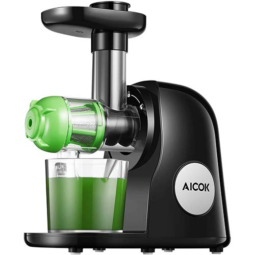 5. Juicer Machines, Aicok Slow Masticating Juicer Extractor
