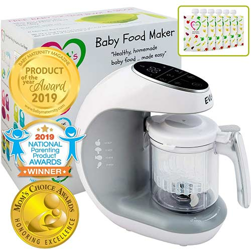 5. Digital Baby Food Maker Machine - 2-in-1 Steamer Cooker and Puree Blender Food Processor - NutriChef PKBFB18