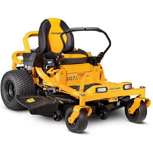 1. Cub Cadet Ultima ZT1 50 in. 23 HP Kawasaki FR Series V-Twin Dual Hydrostatic Zero Turn Mower