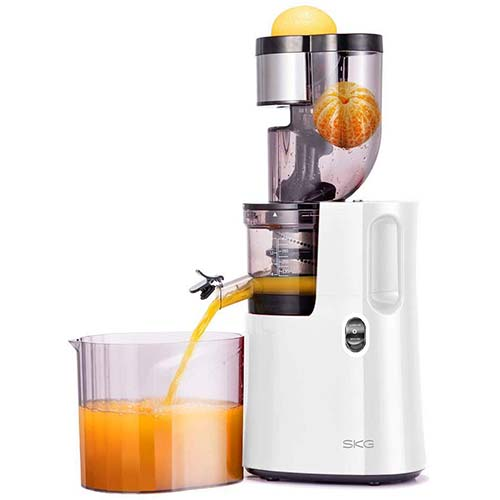 9. SKG Slow Masticating Juicer Wide Chute Cold Press Juicer Machine