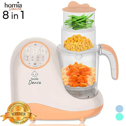 7. Baby Food Maker Chopper Grinder - Mills and Steamer 8 in 1 Processor