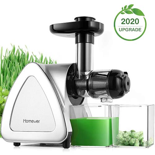 7. Juicer Machines, Homever Slow Masticating Juicer Extractor