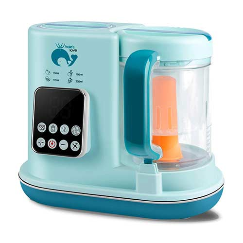 3. Whale's Love Baby Food Maker 5 in 1 Baby Food Processor