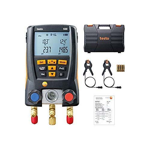 6. Testo 0563 1550 Digital Manifold Kit, Bluetooth Supported