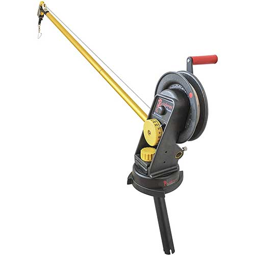 2. Seahorse Downrigger with Extended Boom, Swivel Base and Gimbal by Troll-Master
