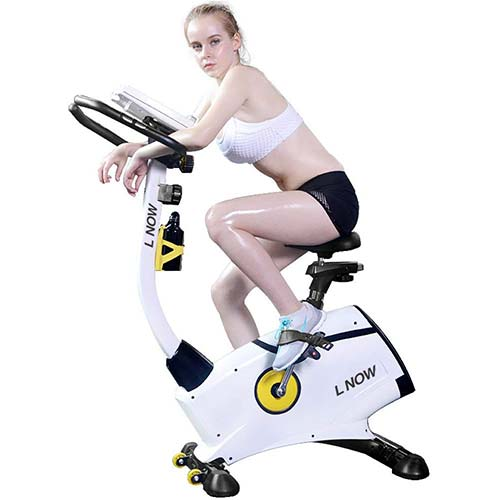 10. L NOW Indoor Upright Bike Cycling Bike Exercise Bike Stationary D808